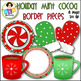 Clip Art ● Holiday Mint Cocoa Border Pieces ● Products for