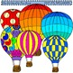 Clip Art Hot Air Balloons Combo