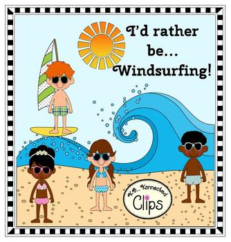 Clip Art - I'd rather be...Windsurfing!