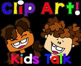 Clip Art Kids Talk