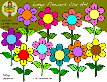 Clip Art: Large Flowers (freebie)