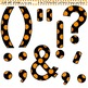 Clip Art Letters and Punctuation Polka Dots Black and Orange