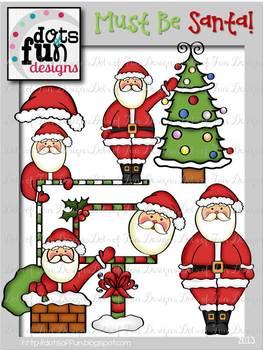 Clip Art: Must Be Santa! ~Dots of Fun Designs~