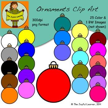 Clip Art: Ornaments (25 colors & 1 BW) - FREE