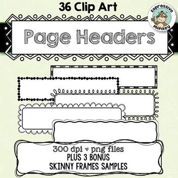 Clip Art: Page Headers