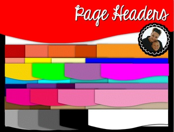 Clip Art~ Page Headers Collection