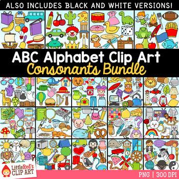 Alphabet Clip Art Consonants (no vowels)