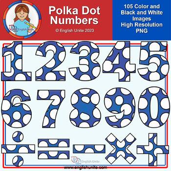 Clip Art - Polka Dot Numbers
