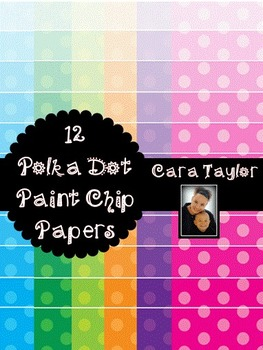 Clip Art~ Polka Dot Paint Chip (Ombre) Digital Papers