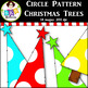 Clip Art ● Rainbow Circle Pattern Christmas Trees ● Produc