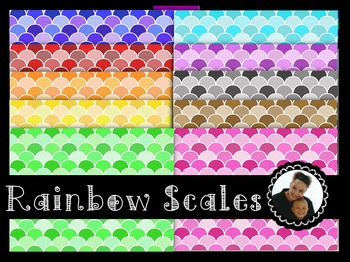 Clip Art~ Rainbow Scales Digital Paper Collection