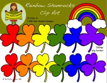 Clip Art: Rainbow Shamrocks (freebie)