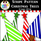 Clip Art ● Rainbow Stripe Pattern Christmas Trees ● Produc