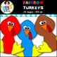 Clip Art ● Rainbow Turkeys  ● Digital Images ● Products fo