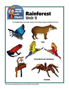 Clip Art Rainforest Unit 2