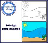 Clip Art - SEA BACKGROUND