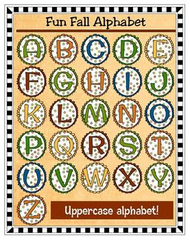 Clip Art - Scalloped Fall Alphabet