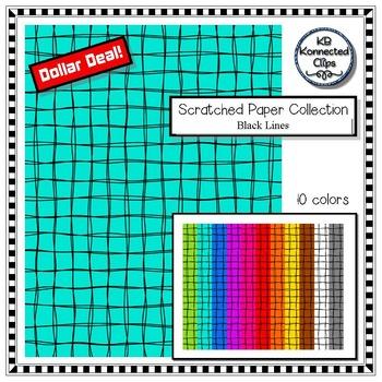 Clip Art - Scratched Paper Collection (black line) - Dollar Deal!