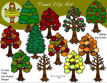 Clip Art: Seasonal Trees