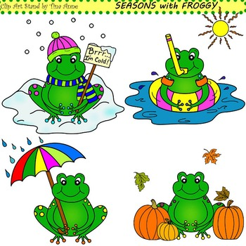 Clip Art Seasons With Froggy