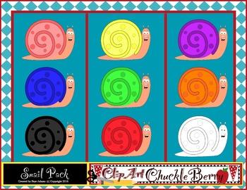 Clip Art Snails by ClipArt ChuckleBerry