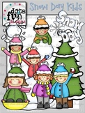 Clip Art: Snow Day Kids ~Dots of Fun Designs~