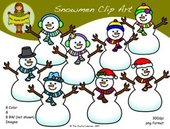 Clip Art: Snowmen & Snowwomen