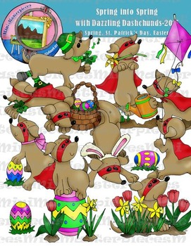 Clip Art: Spring into Spring Doggies: Easter, St.Patrick's