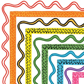 Clip Art: Squiggle Border Set For Personal and Commercial Use