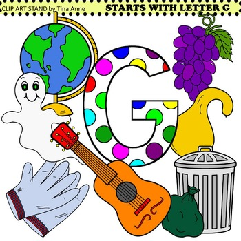 Clip Art Starts With Letter G