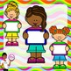 Clip Art~ Summer Kids with Signs