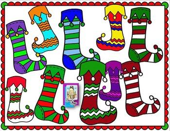 Clip Art~ Tacky Christmas Socks / Stockings
