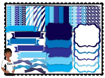 Clip Art~ Teacher Design Bundle: Winter Blues