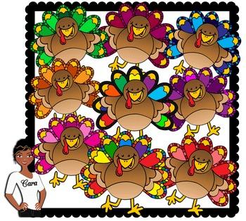 Clip Art~ Thanksgiving Turkeys 2
