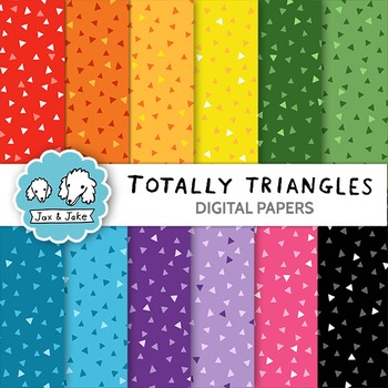 Clip Art: Totally Triangles Digital Papers for Personal an