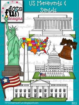 Clip Art: US Monuments & Symbols ~Dots of Fun Designs~
