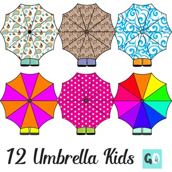 Umbrella Clipart, Boots and Umbrellas Clip Art