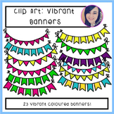 Clip Art: Vibrant Banners