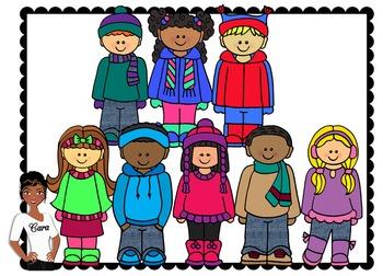 Clip Art~ Winter Kids
