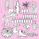 Winter Clip Art Color & BW jackfrost icicles skate bells t