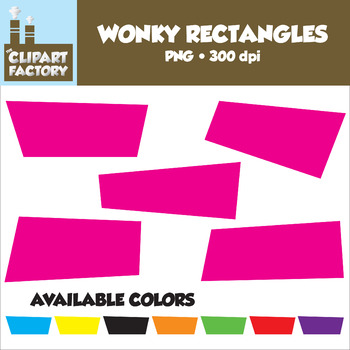 Clip Art: Wonky Rectangles - Assorted Stretched Rectangula