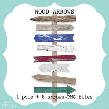 Clip Art: Wood Arrows