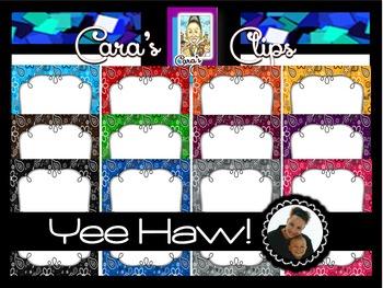 Clip Art~  Yee Haw!  Bandana Print Ready-Made Product Cove