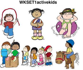 Clip Art for WEBSITES Active Kids