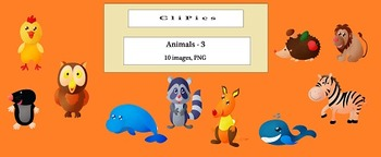 Clip Art of Animals (version - 3), by CliPics