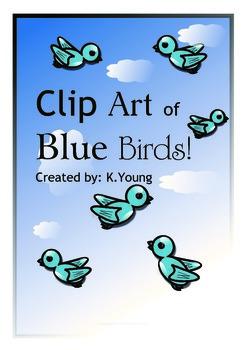 Clip Art of Blue Birds