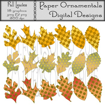Clip Art or Clipart:  Fall Leaves