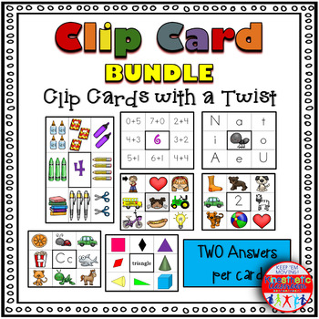 Clip Card Bundle - Clip Cards with a Twist! {Math & Literacy}