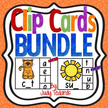 Clip Cards Bundle(Beginning, Middle, and Ending Letters) by Judy Tedards