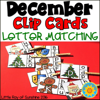 Clip Cards: Letter Matching-December Edition